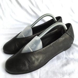Eileen Fisher Patch ballet flat hidden wedge black